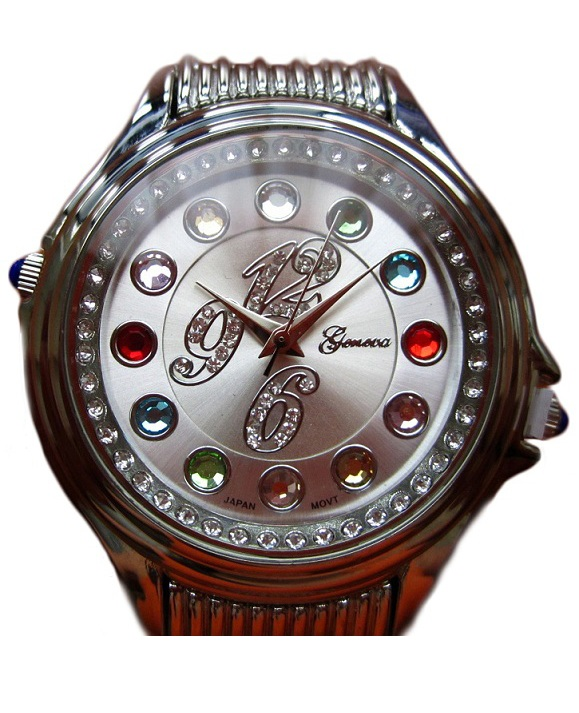 Crazy Carats Silver Dial Silver Watch