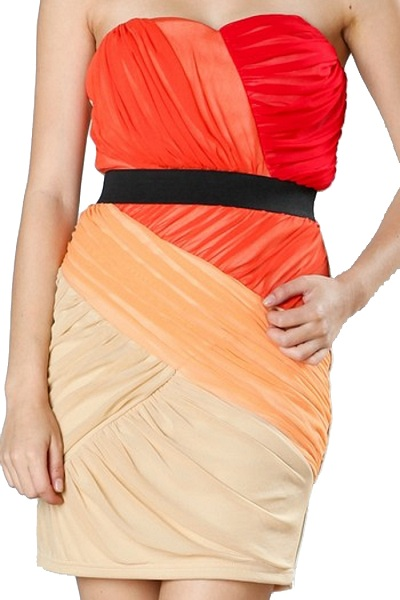Ark & Co. Letizia Colorblock Strapless Dress