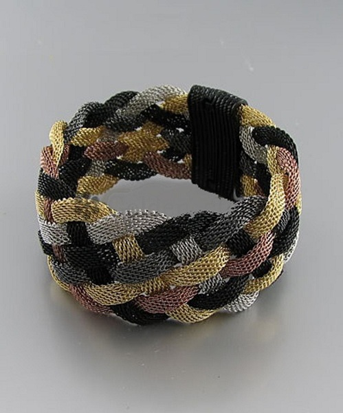 Emme Modern Mesh Chain Braid Bracelet - More Colors