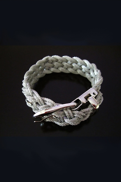 Zeta Belt Buckle Weaved Mesh Bracelet - More Colors