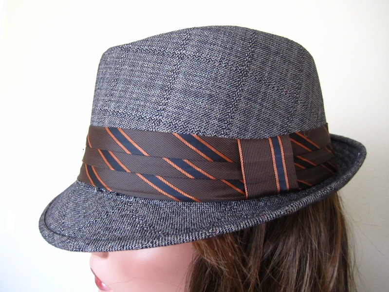 Ribbon Band Tweed Fedora