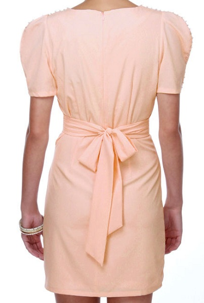 Ark & Co. Pearl Pink Beads Trim Dress