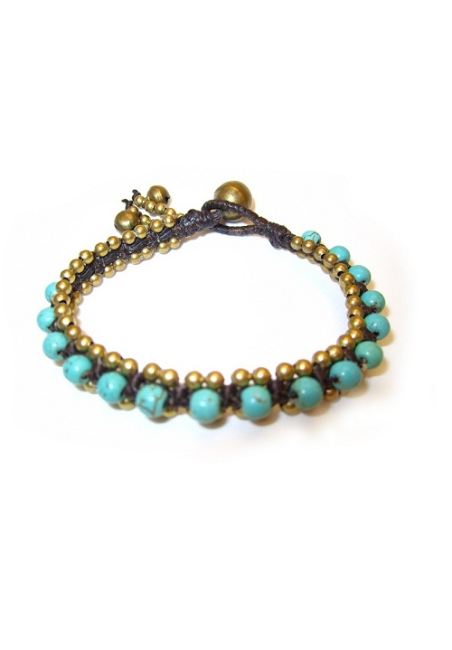 Thai Beaded Bracelet with Bells - More Colors
