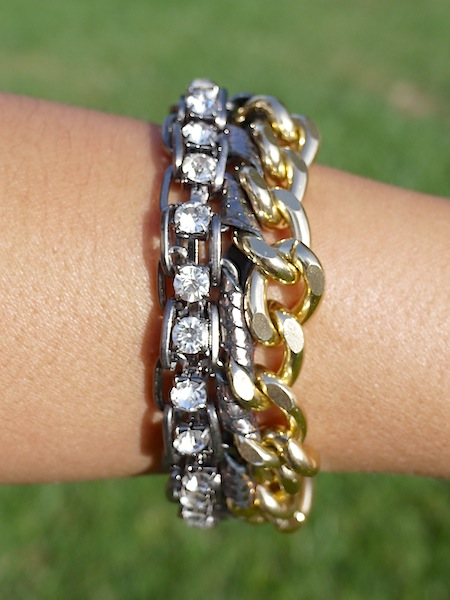 Thai Mixed Metal and Leather Bracelet