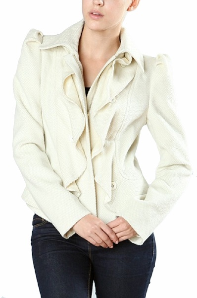 Ark & Co. Kimora Ruffle Jacket - More Colors