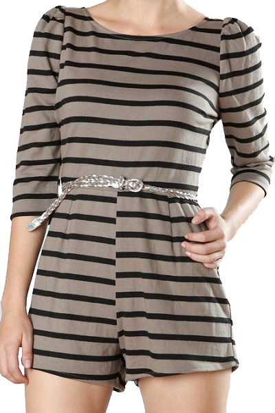 Ark & Co. Sassipen Striped Romper