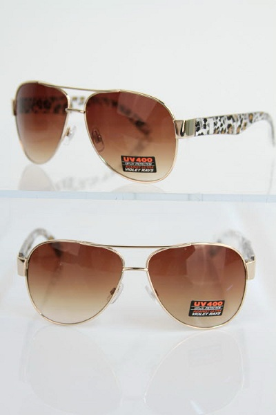 Animal Print Aviator Sunglasses - More Colors