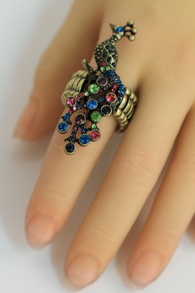 Peacock Knuckle Stretch Ring - More Colors