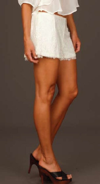Lucy Love Lace Shorts - Pure