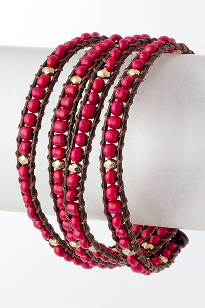 Tryk Accent Bead Wrap Bracelet - More Colors