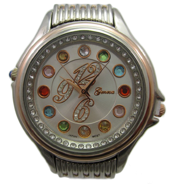 Crazy Carats Silver Dial Rose Gold & Silver Watch