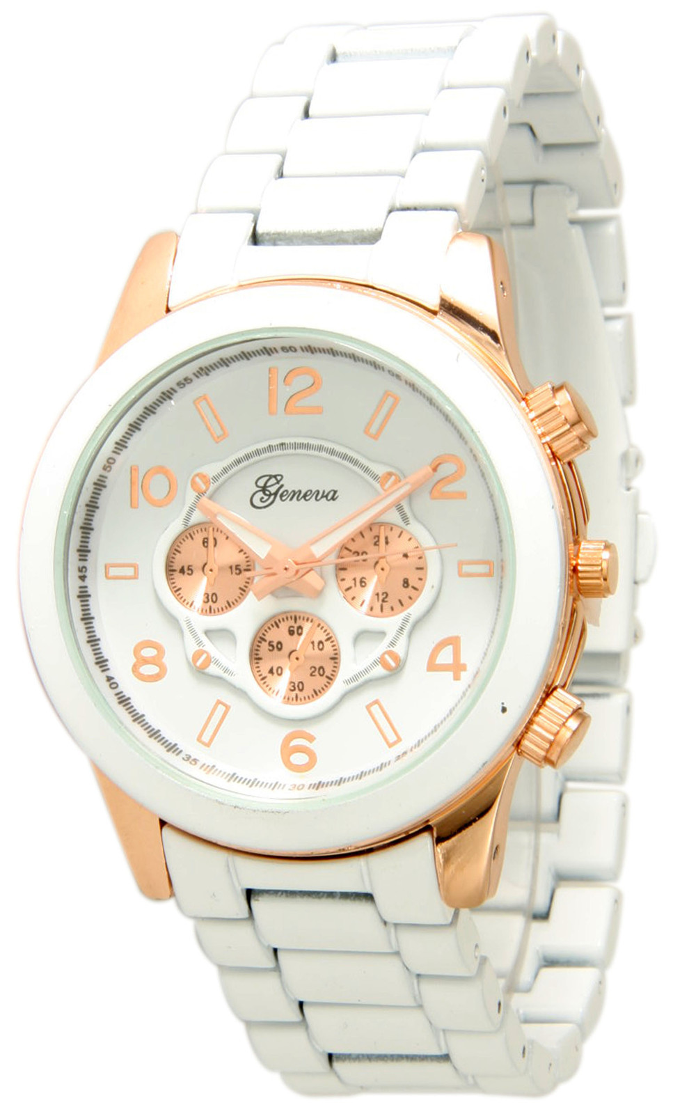 Geneva Gold Chronograph Unisex Watch