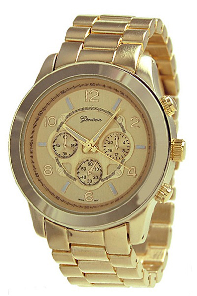 Geneva Gold Men's Watch