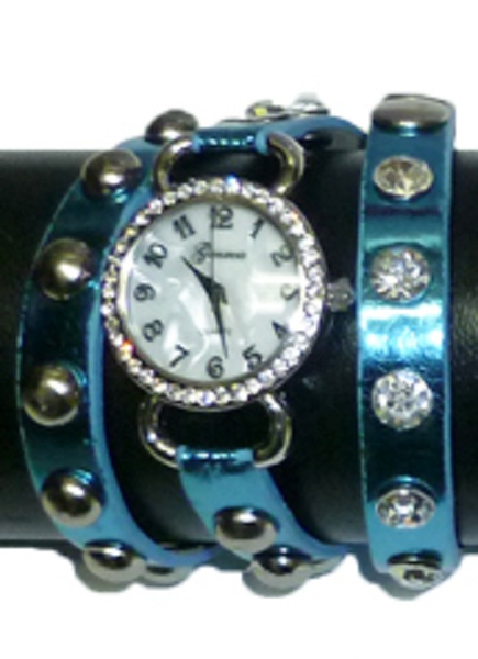 Geneva Wrap Around Watch - Metallic Design