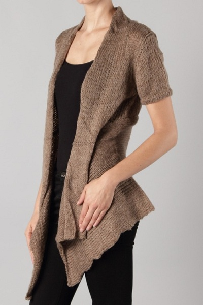 Sheri Short Sleeved Knit Cardigan - More Colors