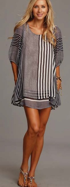 Lucy Love Gabrielle Dress - Monterey Stripes