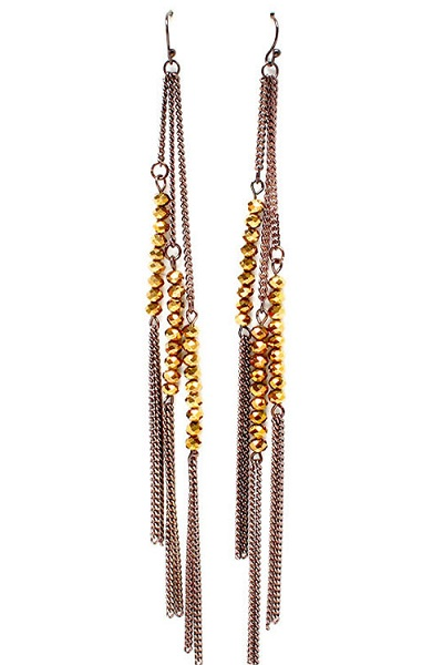 Ami Tassel and Beads Earrings - More Colors