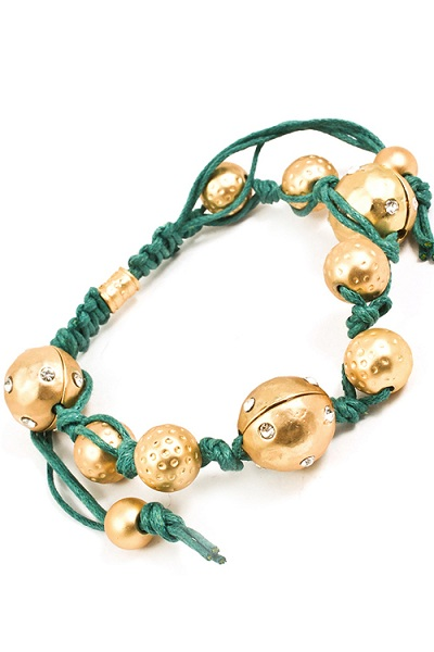 Trikaya 3 Bodies Shamballa Bracelet - Gold - More Colors