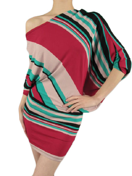 Patrizia Asymmetric Multi Stripe Dress