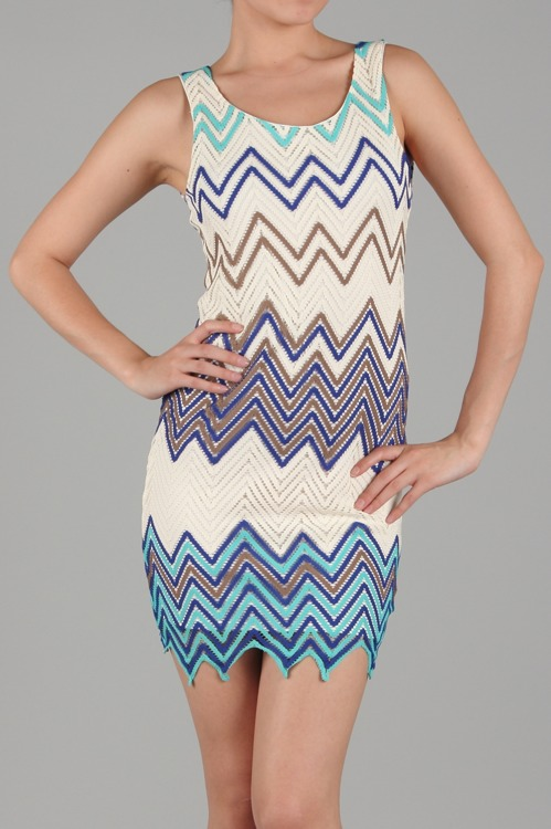 Mischa Zig Zag Knit Dress