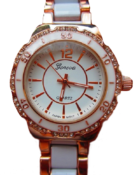Geneva Marine Watch - Rose Gold and White