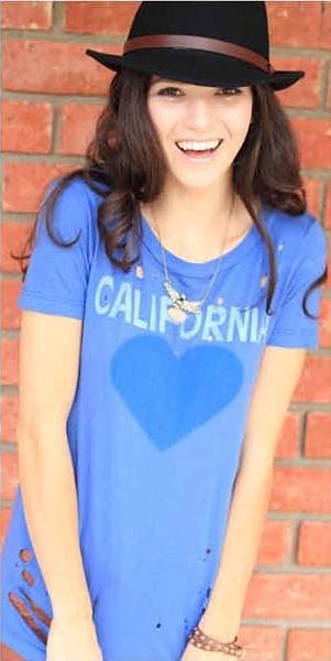 California Love Destroyed Slouchy Tee - Denim