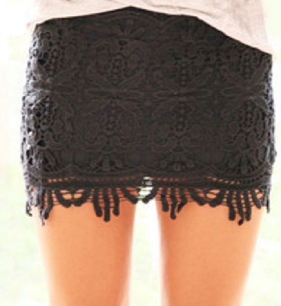 Sydney Lace Mini Skirt - Black