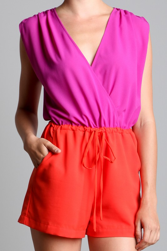Ark & Co. Faye Colorblock Romper
