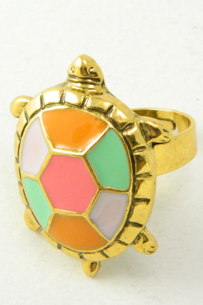 Pastel Colorful Turtle Ring