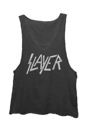 Slayer Boxy Muscle Tank - Pigment Black