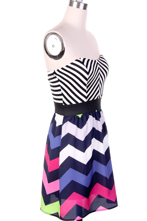 Ziggy Pop Chevron Print Dress