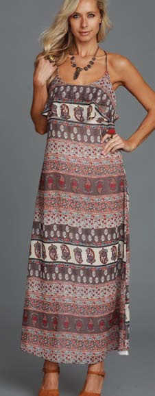 Lucy Love Medusa Maxi Dress - Portofino Print