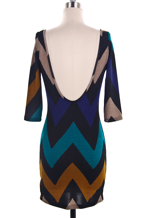 Monroe Chevron Print Dress
