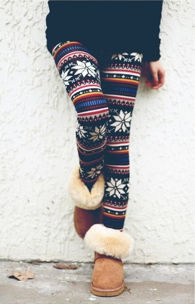 Elin Knit Sweater Leggings - Black