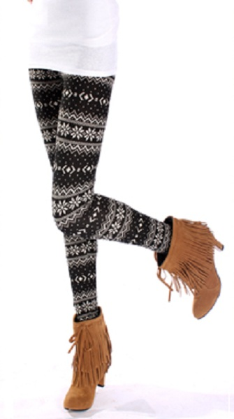 Rikka Knit Sweater Leggings - Black