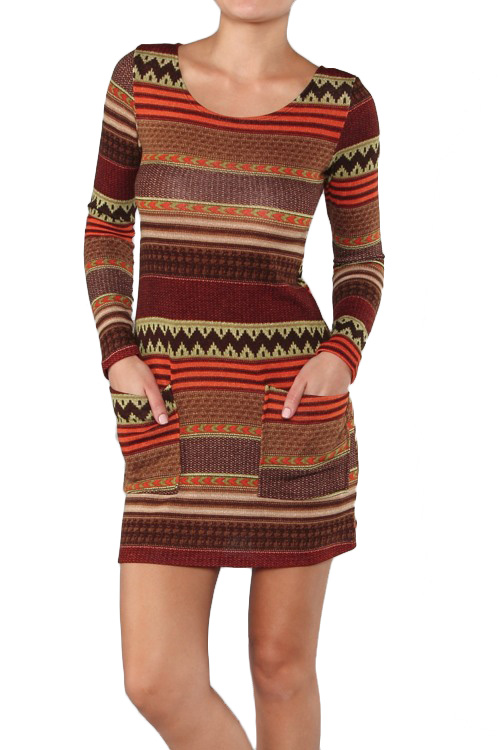 Caramela Aztec Sweater Dress