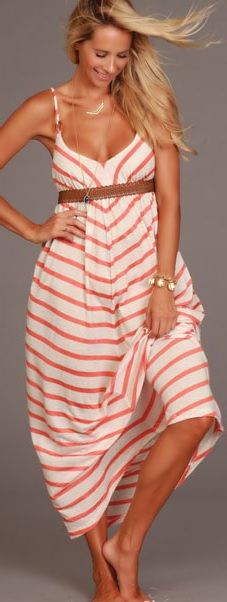 Lucy Love Bistro Maxi - Cape Cod Stripes