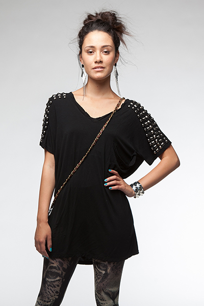 Chain Gang Gorgeous Tee - Black