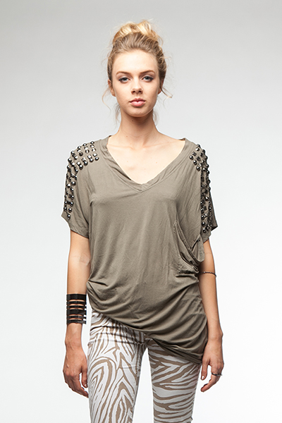 Chain Gang Gorgeous Tee - Olive