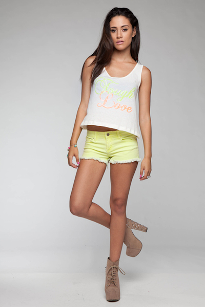 Light It Up Neon Shorts - Yellow
