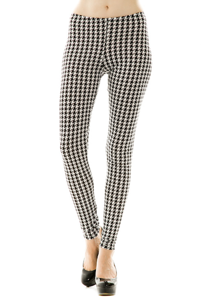 Houndstooth Printed Leggings
