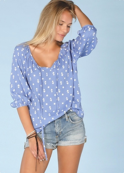 Lucy Love Claire Top - Loveboat Print