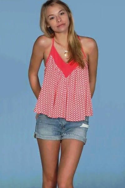 Lucy Love Lily Top - Shore Club Print