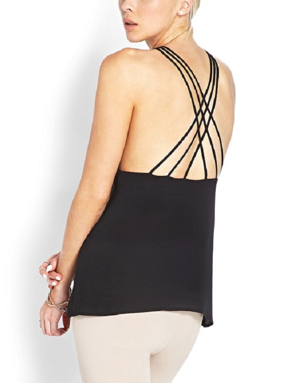 Criss Cross Back Strappy Cami - More Colors