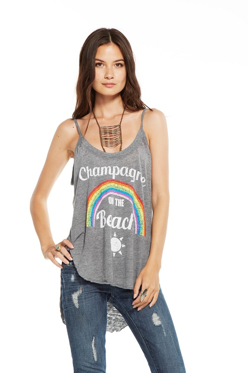 Champagne Beach Hi-Lo Graphic Tee