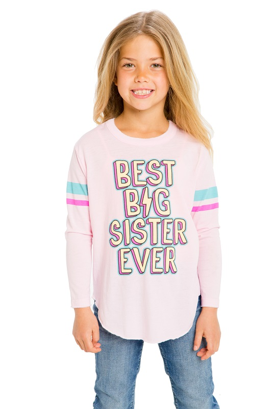 Best Big Sis Girls Graphic Tee