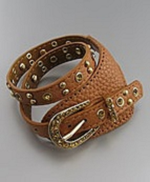 Cintura Western Buckle Leather Wrap Bracelet - More Colors