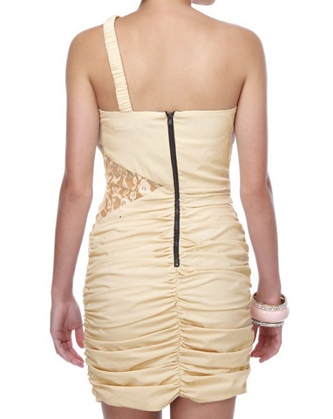 Ark & Co. Shoulder Strap Beige Dress