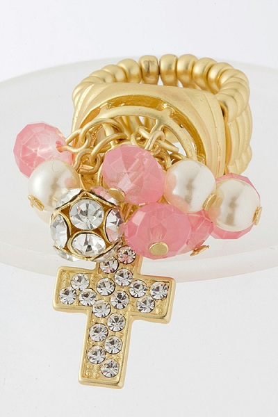 Cross Cluster Stretch Ring - More Colors