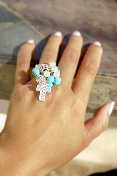 Cross Cluster Stretch Ring - More Colors - Click Image to Close